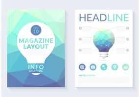 Free Abstract Polygonal Magazine Layout Vector