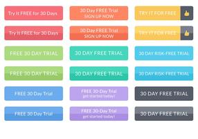 Free 30 Day Free Trial Vector Buttons