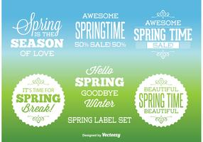 Typographic Spring labels