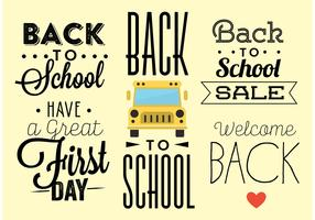 Back to School Typography Vectors