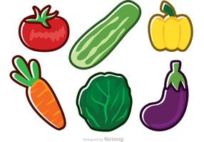 Fresh Vector Vegetable Icons