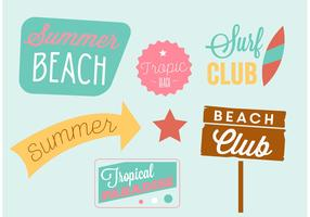 Summertime Beach Vector Elements