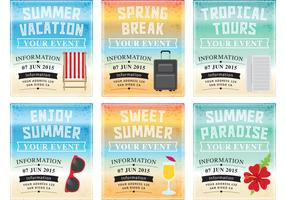 Vacation Background Vector Templates