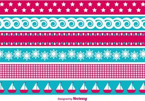 Beach Summer Time Border Vectors