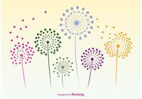 Dandelion Flower Vector Silhouettes