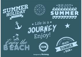 Beach Summer Adventure Vector Labels