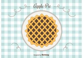 Apple Pie Vector Background