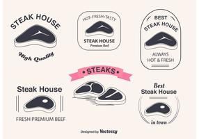 T Bone Steak Vector Labels