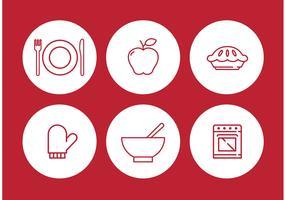 Apple Pie Vector Icon Set