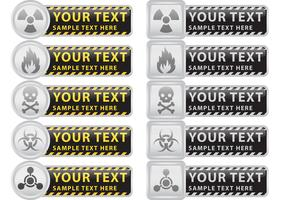 Prevention And Caution Vector Banners