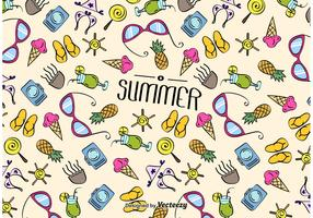 Summer Beach Texture Vector