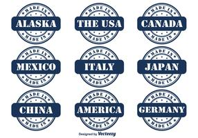 Made In Country Vector Badge Set