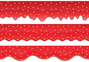Strawberry Jam Border Vectors