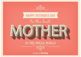Typographic Mother's Day Poster