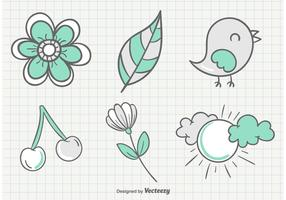 Sketchy Summer Garden Illustrations