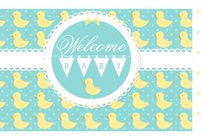 Free Vector Welcome Baby Card