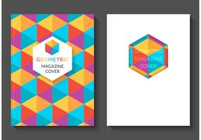 Free Colorful Geometric Magazine Vector Covers