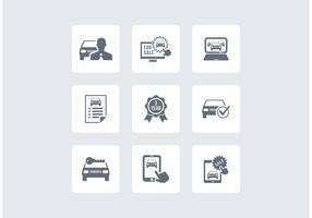 Free Car Dealership Vector Icons
