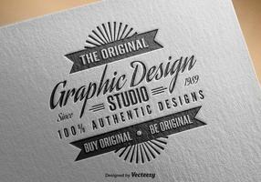 Editable Vintage Insignia