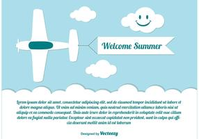 Welcome Summer Illustration