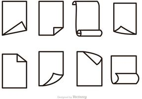 Free Vector Paper Outline Icons Set