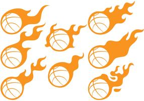 Basketball Fireball Vectors