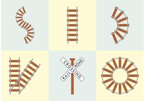 Railroad Tracks Vector Free