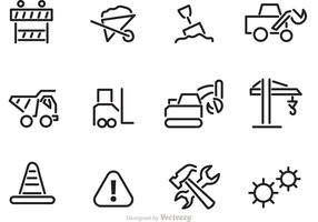 Contruction Outline Icon Vectors