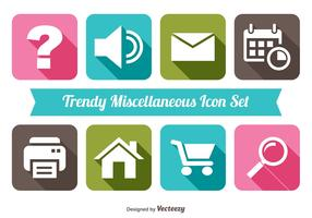 Trendy Miscellaneous Icon Set