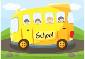 School Bus Vector Background