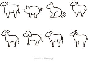 Outline Animal Vectors Icons