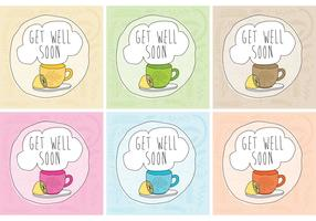 Get Well Tea Card Vectors