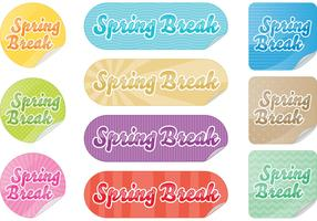Spring Break Sticker Vectors