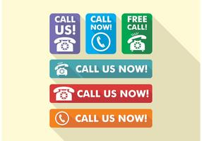 Call Us Now Icons Vector Free