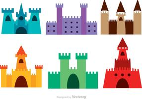 Colorful Castle Vectors