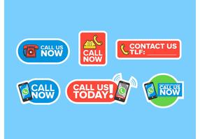 Call Us Now Vector Icons Pack