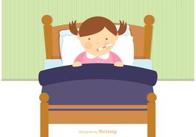 Free Sick Child In Bed Vector