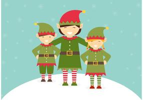 Free Santa Elves Vector