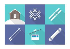 Free Vector Wintersport Icons
