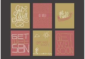 Get Well Soon Cards Free Vector