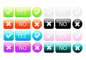 Big Colorful Button Vector Set