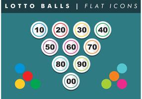 Lotto Balls Numbers Flat Icons Vector Free