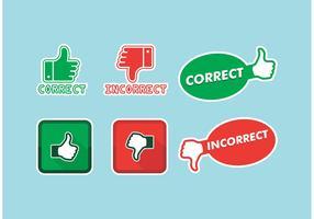 Correct Incorrect Icons Vector Free