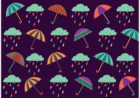 Spring Showers Pattern Vector