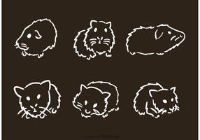 Hand Drawn Guinea Pig Vectors
