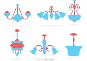 Cute Chandelier Vector Set