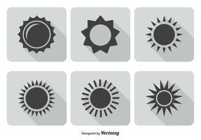Trendy Sun Icon Set