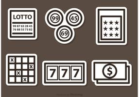 Outlined Lotto Vector Icons