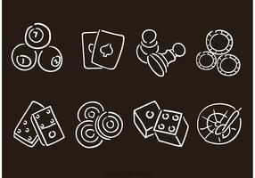 Hand Drawn Gaming Vector Icons