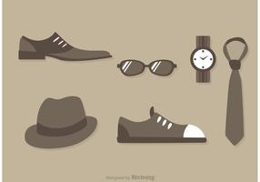 Man Fashion Icon Vectors